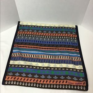 "Ethnic Orb Stripes Mesh +Logo Handkerchief 9"" X 9"""